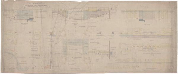 Plan, sections and elevations of canal safety gates at Firhill, Glasgow