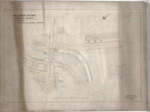 Caledonian Railway Central District Survey of Canal Bridge, Dalmuir