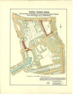 Canal Basin Area. The Corporation of Edinburgh and The North British Railway Company