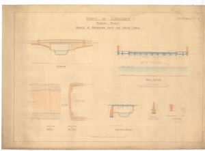 County of Linlithgow Bathgate District Bridge at Broxburn over the Union Canal Drawing No