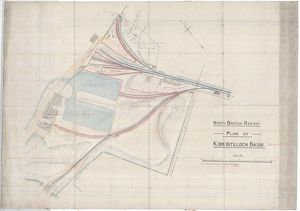 North British Railway Plan at Kirkintilloch Basin