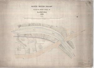 North British Railway Plan of Union Canal at Slateford