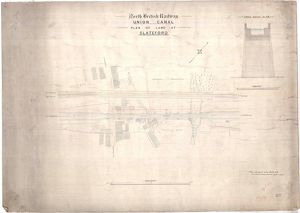 North British Railway, Union Canal, Plan of Land at Slateford