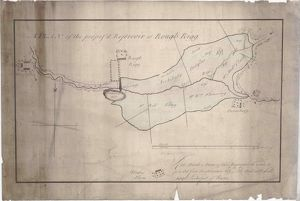 Plan of the Proposed Reservoir at Roughrigg