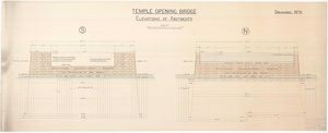 Temple Opening Bridge, Elevations of Abutments